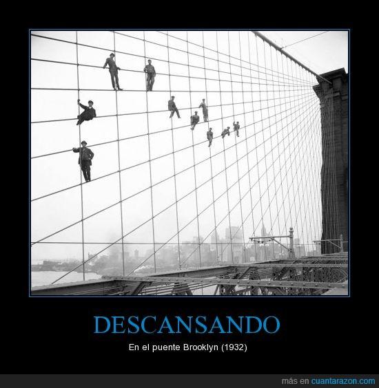 1932,Brooklyn,cables,descansar,nueva york,Ny,Puente