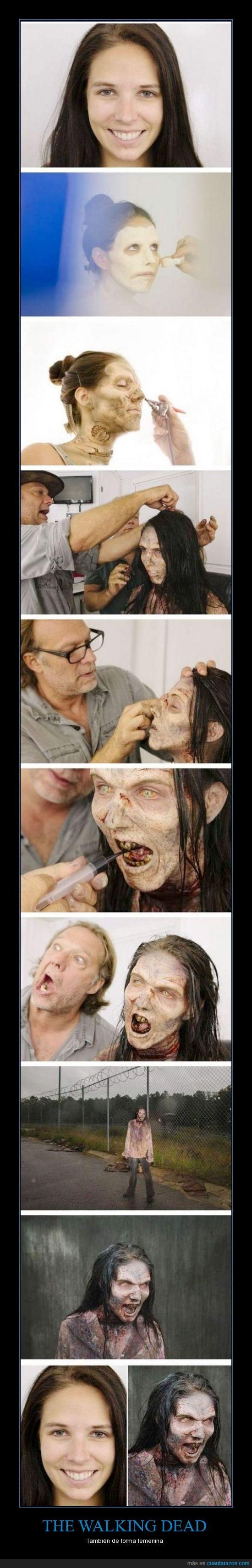 chica,dead,maquillaje,walking,zombie