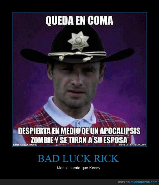 bad,brian,dead,Grimes,luck,rick,the,walking,zombies