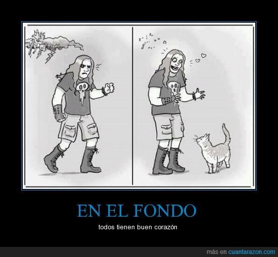 bueno,corazón,gato,metal,rock