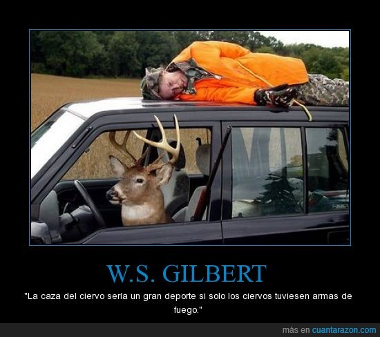 armas de fuego,caza,ciervo,venganza,w.s gilbert