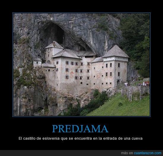 ahi hay fantasmas fijo,Castillo,hueva,predjama,raro