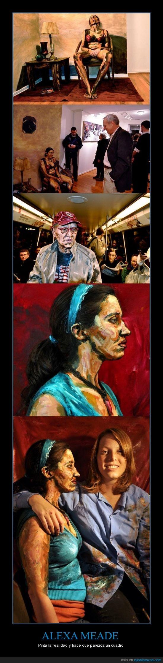 Alexa Meade,arte,increíble,pintura,realidad transformada