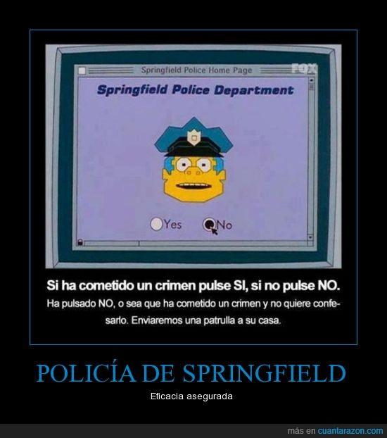 crimen,delincuente,policia,springfield