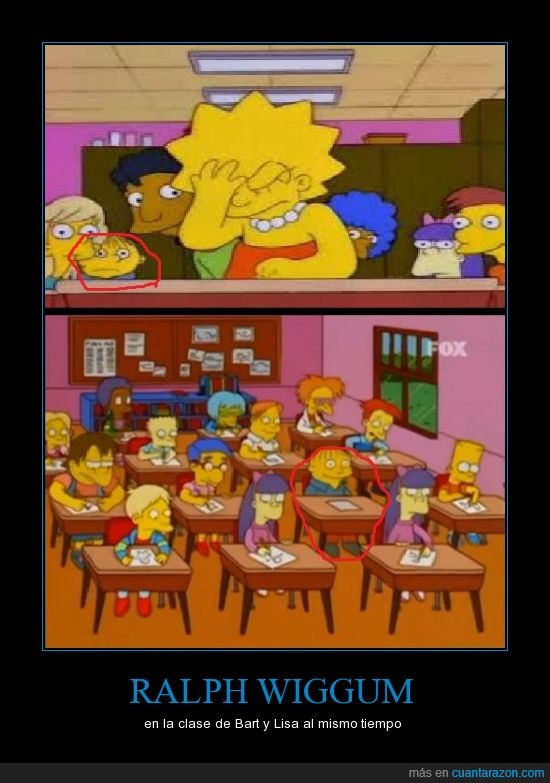 bart,clase,lisa,misma,ralph,simpsons