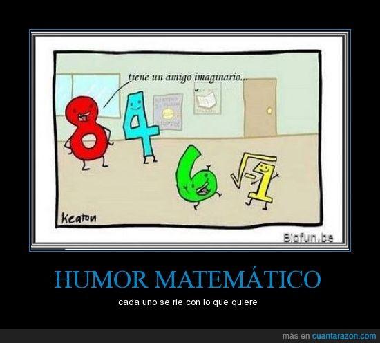 amigo,chistes,imaginario,Matemáticas,negativa,negativo,números,raiz cuadrada