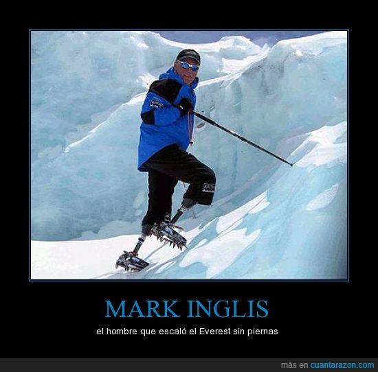 cojones como un castillo,ejemplo,Mark Inglis,superación
