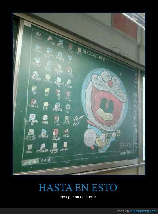 anime,Doraemon,friki,Japón,pintar,pizarra