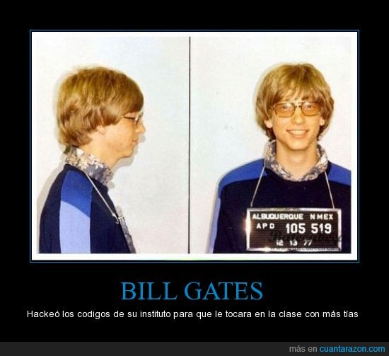 bill gates,chicas,clase,hack,tías,truco