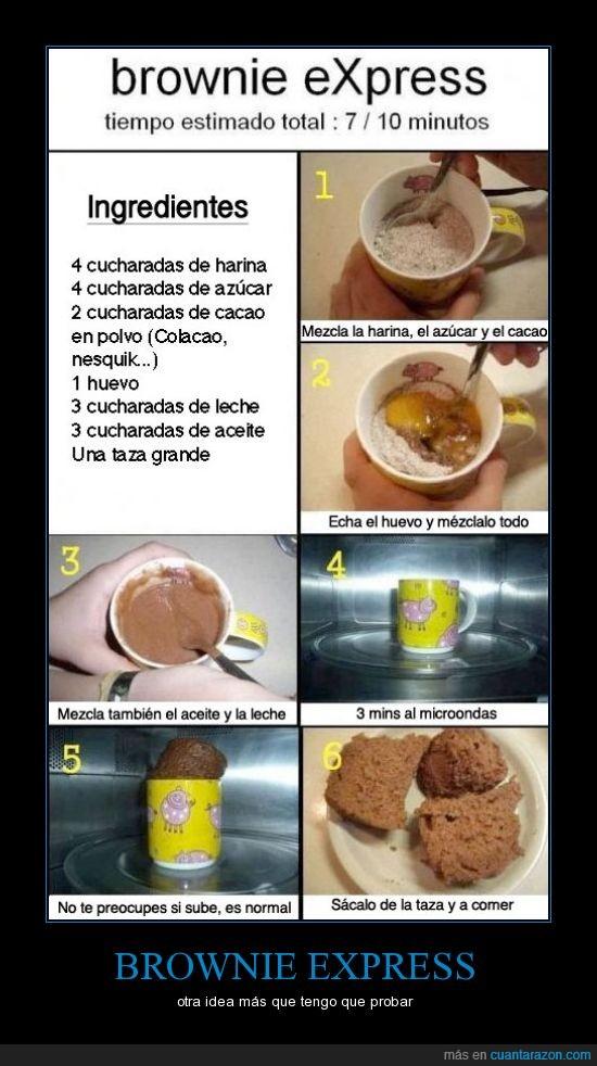 brownie,instantaneo,probar