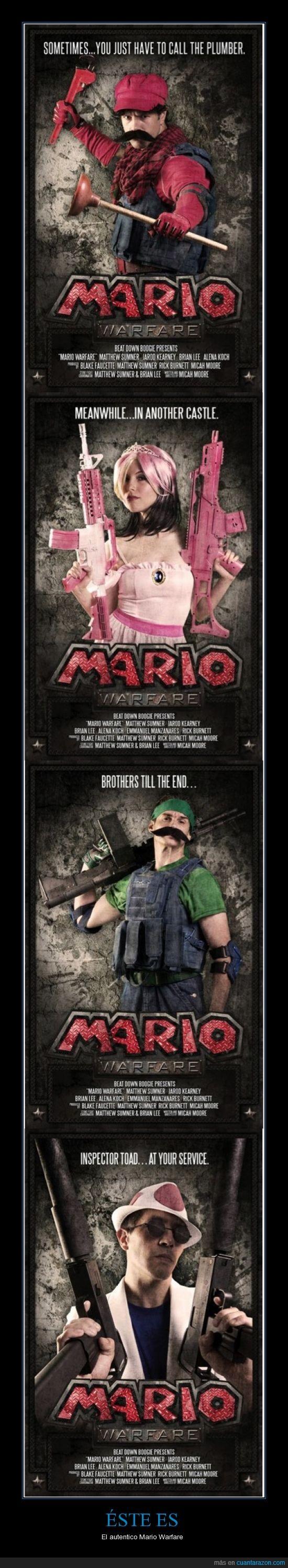 Luigi,Mario,Modern Warfare,Princesa Peach,Toadstool,Youtube