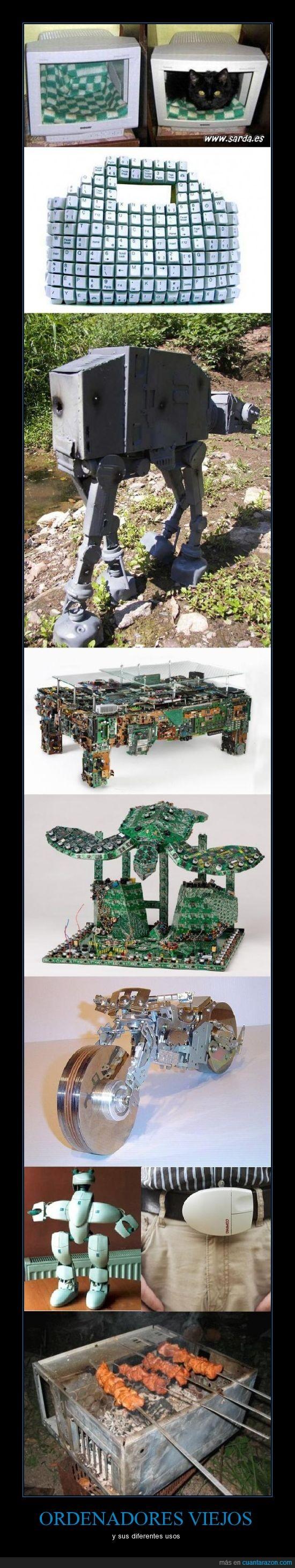 cd,ordenador,parte,pieza,raton,reciclar,torre,viejo