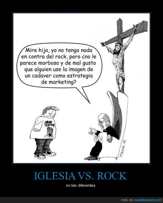 hipocresia,iglesia,iron maiden,rock