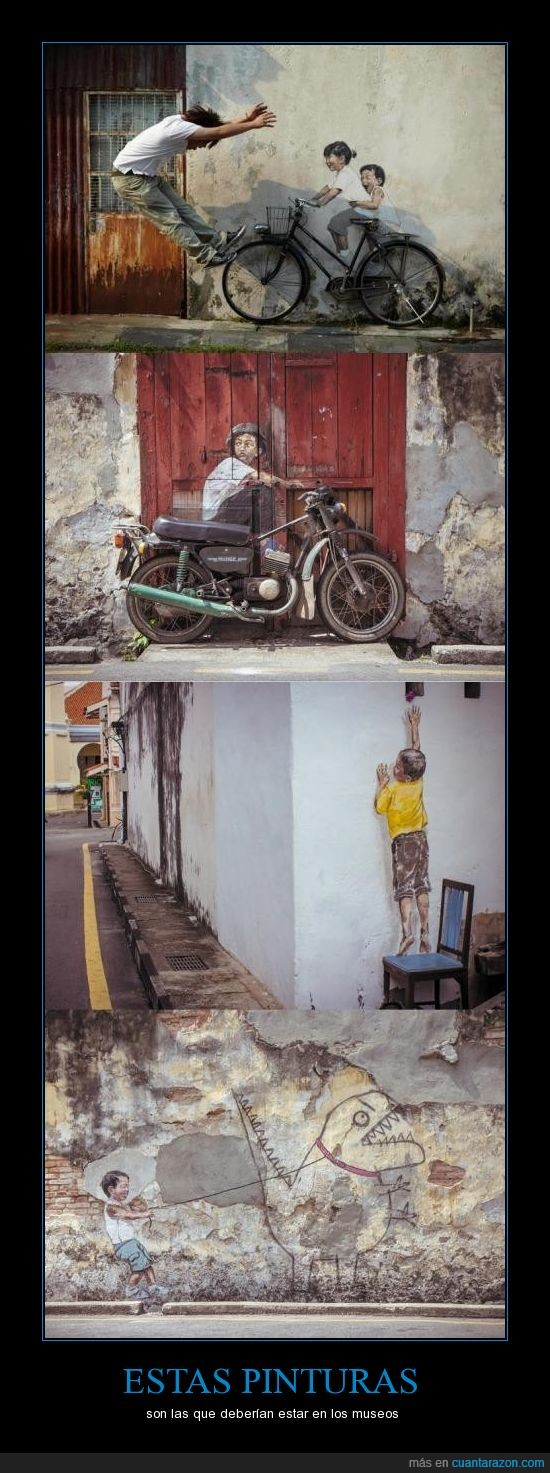 chica,chico,derrumba,infantil,moto,muro,niño,pared,pintura