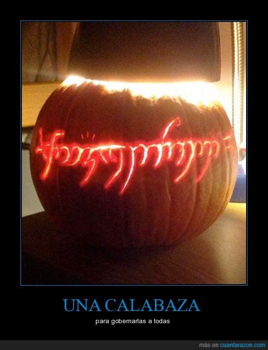 anillo,calabaza,halloween,mordor,señor de los anillos,tlotr