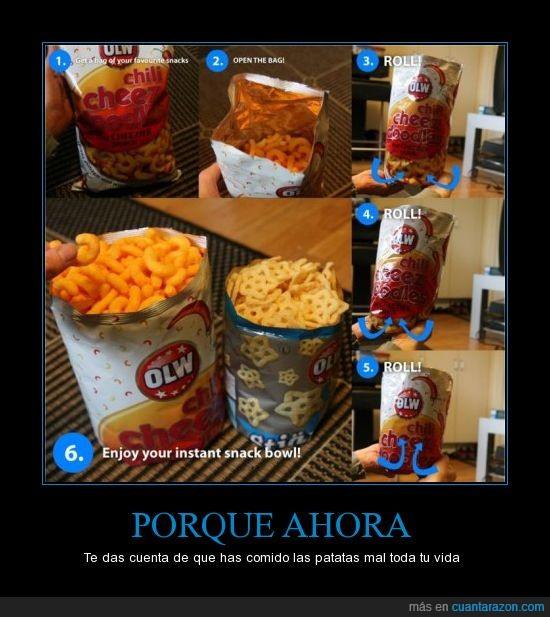 bol,bolsa,bowl,comer,ganchitos,patata,recipiente