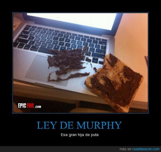 fail,ley de murphy,nocilla,tostada