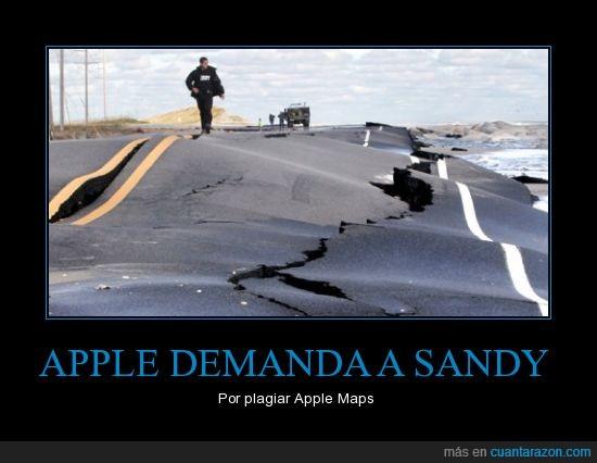 apple,carretera,huracán,iphone,mapas,sandy