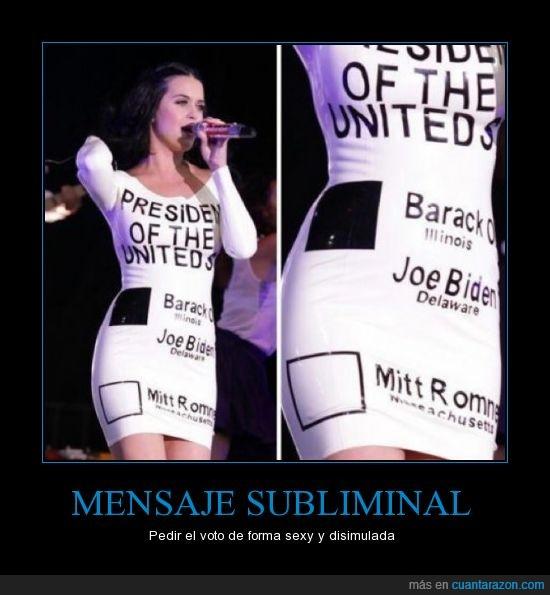 eeuu,elecciones,katy perry,obama,usa,vestido,votos