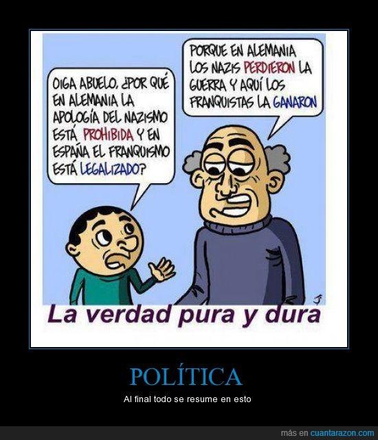 democracia,dictadura,franco,franquismo,ganar,hitler,nazismo,perder,politica