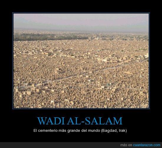 bagdad,cementerio,irak,mayor,mundo,tumba