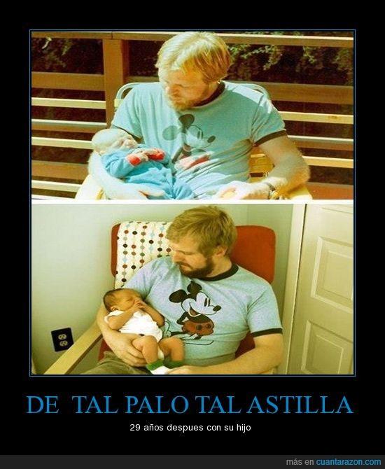 bebe,hijo,igual,padre