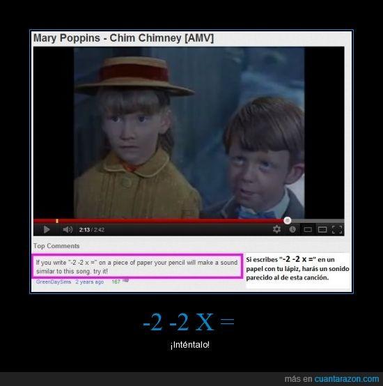 canción,Chim Chimney,escritura,hay que escribirlo rápido,Mary Poppins,sonido