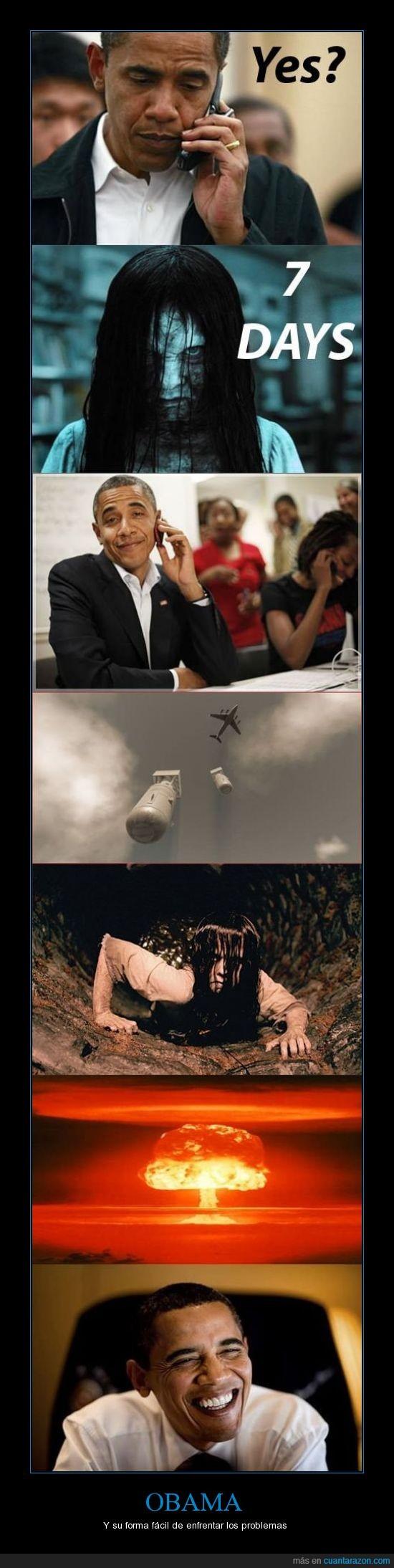 llamada,matar,Obama,problemas,ring,sadako,samara,señal,telefono