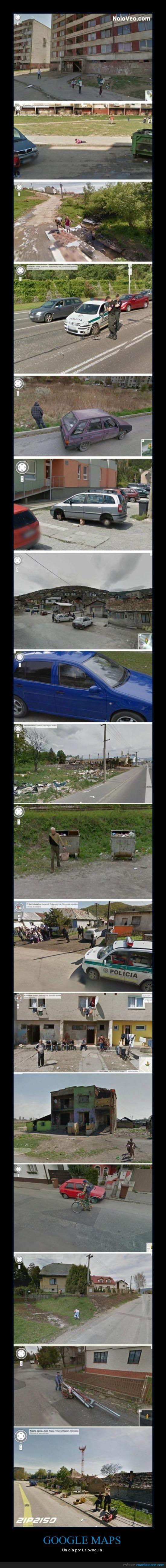 Eslovaquia,google maps,insultar,pobre,policía,robar