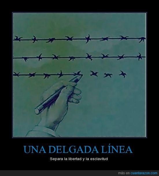 dibujo,esclavitud,idea,libertad,línea