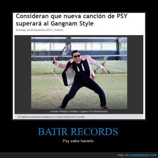batir,gangnam,psy,record
