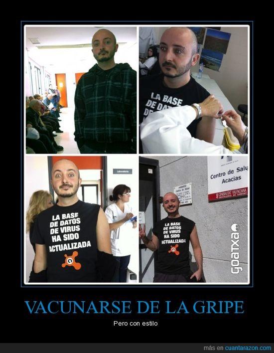 antivirus,camiseta,goatxa,gripe,vacuna