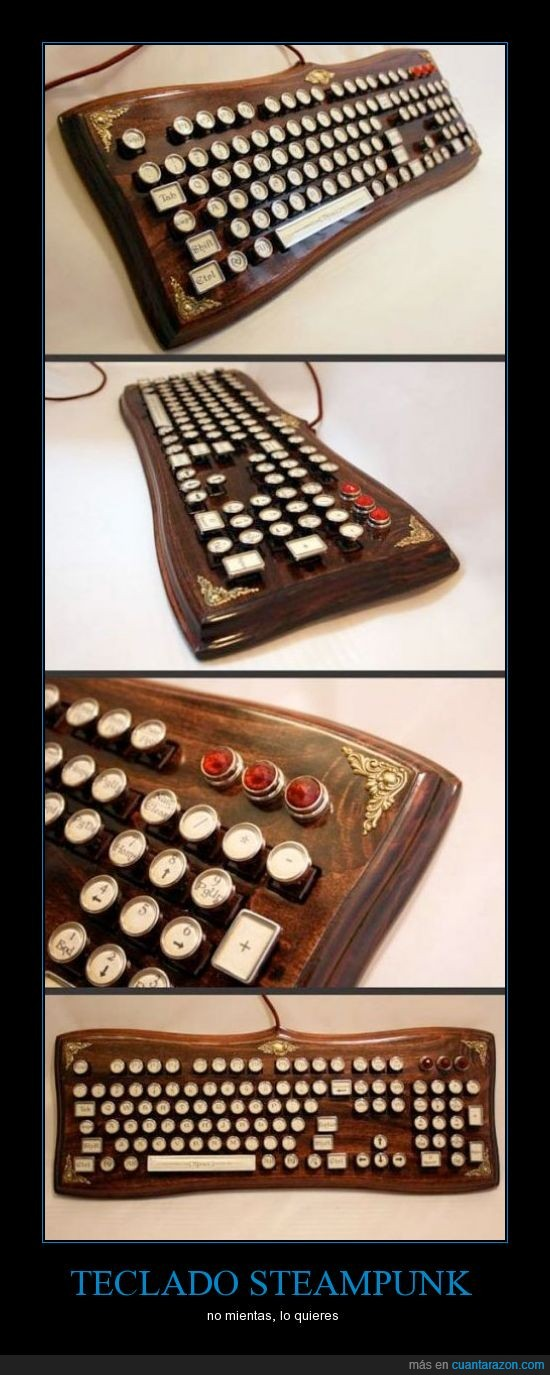 madera,mola,retro,steampunk,tecla,teclado