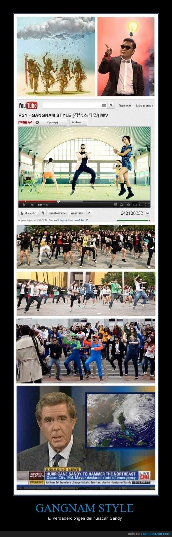 baile,gangnam style,huracan,lluvia,psy,sandy