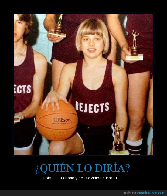 baloncesto,Brad Pitt,foto antigua,niña