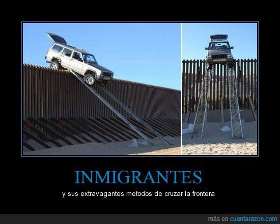 en busca del sueño americano,inmigrantes,jeep,mexico,tan cerca y tan lejos,usa