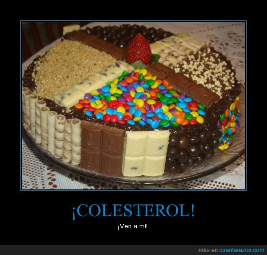 chocolate,colesterol,fresa,lacasitos,pastel,sangre