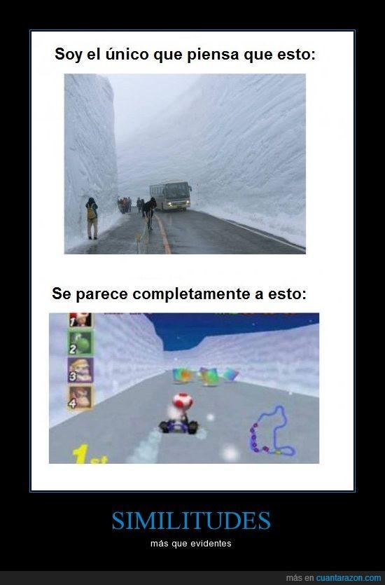 evidentes,hielo,ice,mario,nieve,parecido,similitudes,snow
