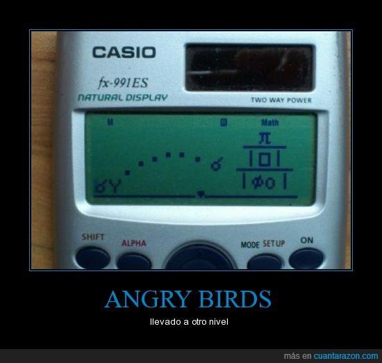 Angry birds,calculadora,casio