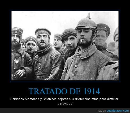 1914,Alemanes,Británicos,Navidad,Tratado,tregua
