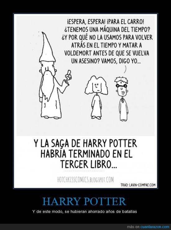 dumbledore,harry potter,hermione,maquina del tiempo,wtf,xq no se me ocurrio antes?