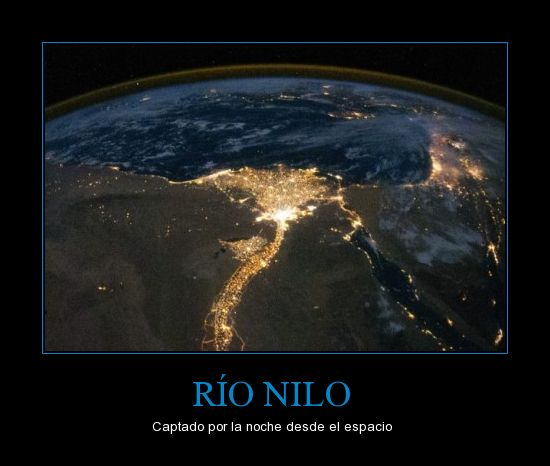 espacio,luz,Rio Nilo