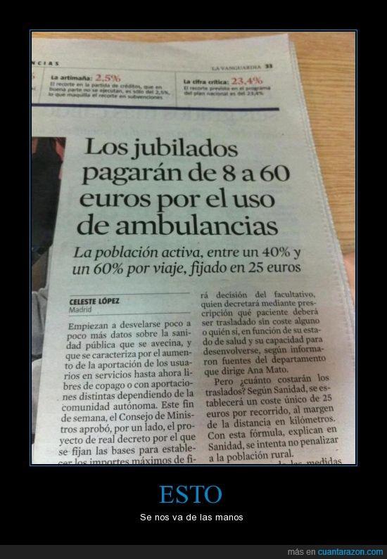 ambulancia,crisis,jubilados,mierda,noticia,pagar