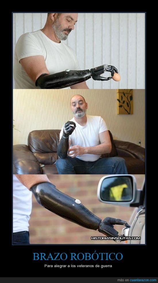 bionico,brazo,ciencia,genial,guerra,robotico