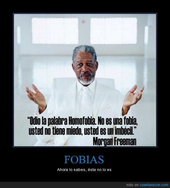 imbecil,miedo,Morgan Freeman