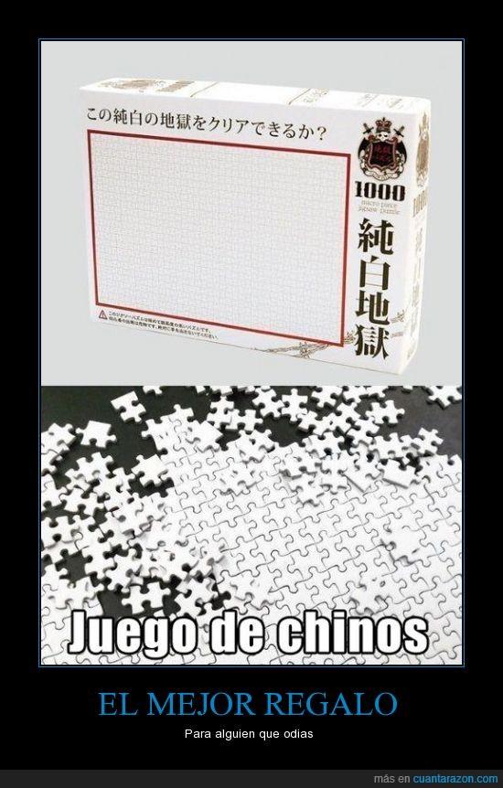 blanco,chinos,juego,puzzle,regalo