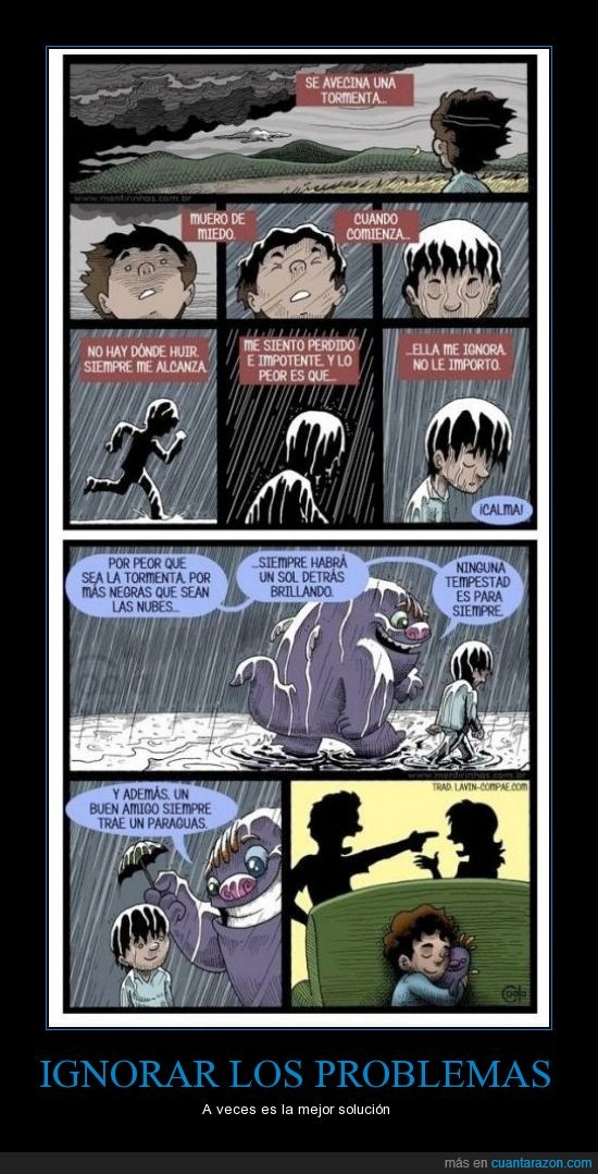 amigo imaginario,discusion,monstruo,niño,padre,pelea,tormenta,violencia familiar