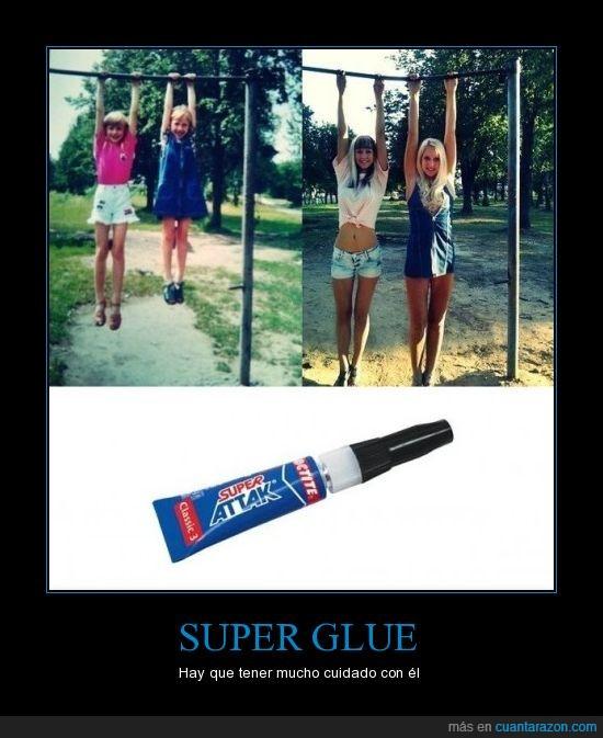 años,barra,chicas,cola,foto,pegamento,super glue