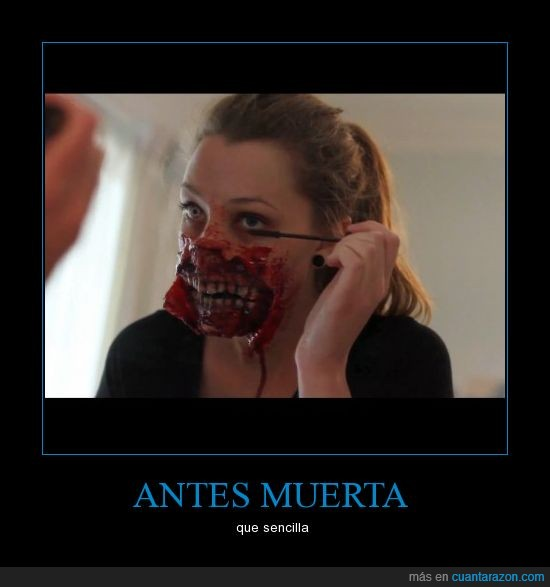 make up,maquillarse,zombies,zombis