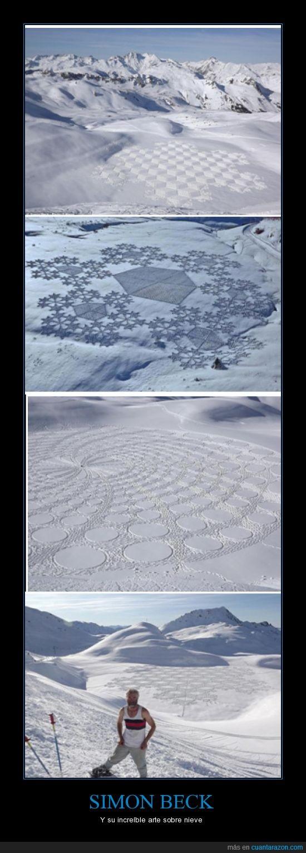 arte,increíble,nieve,Simon Beck